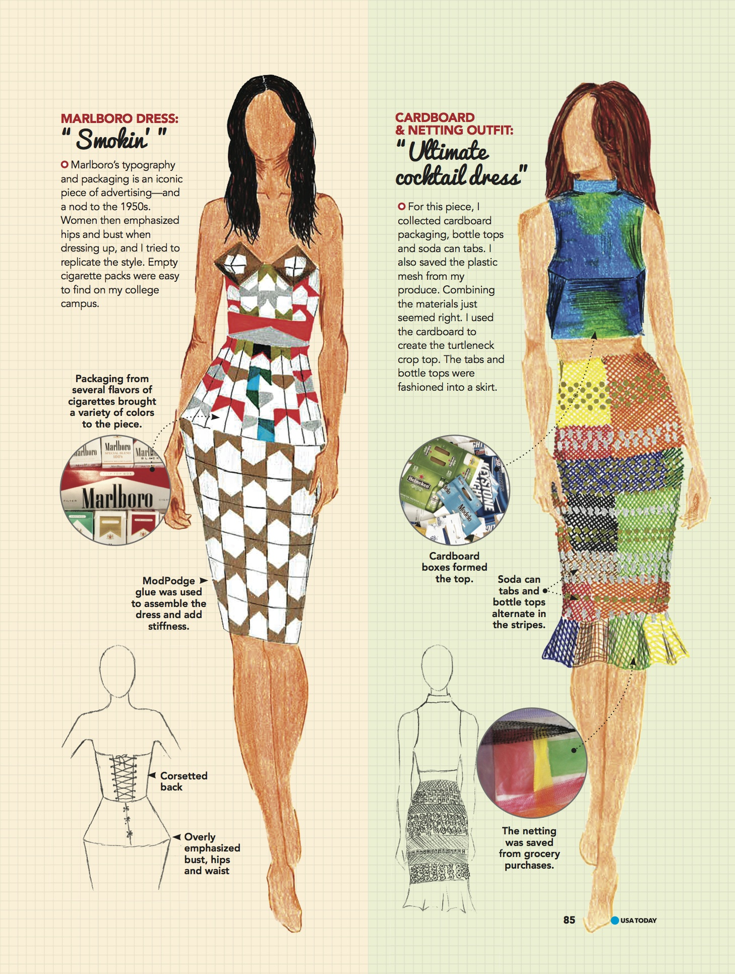 GREEN LIVING_page85 Fashion Illustrations